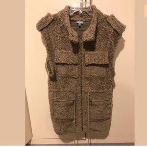 Plenty by Tracey Reese faux fur knubby vest P